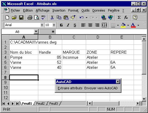 Tout Sur La Cao Vba Autocad Utiliser Excel Pour Editer Les Attributs D Un Dessin Autocad